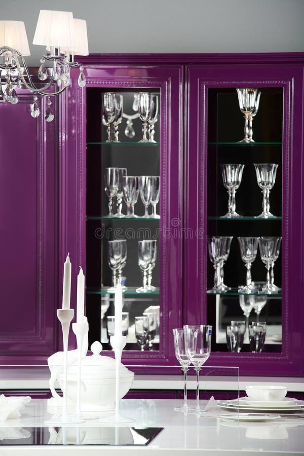 欧洲风格的现代厨房 库存图片