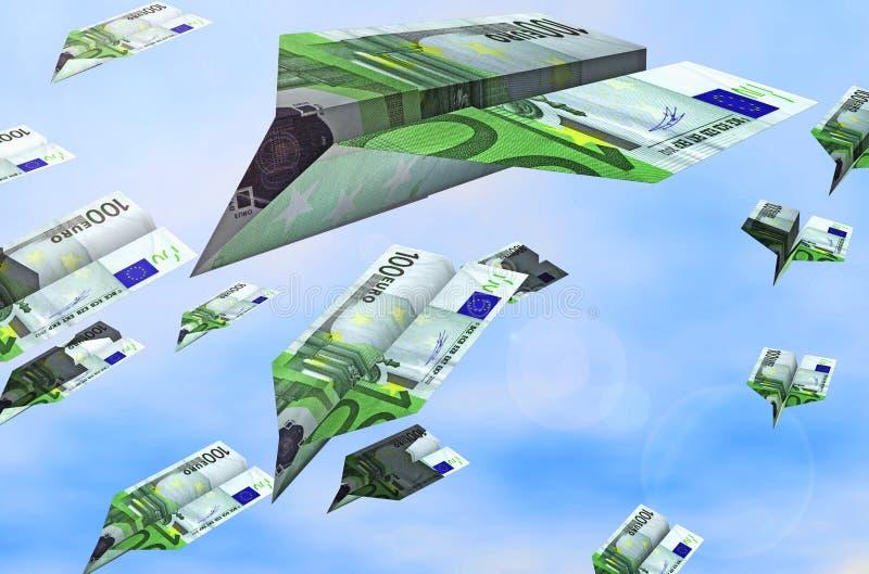 欧洲飞行 向量例证