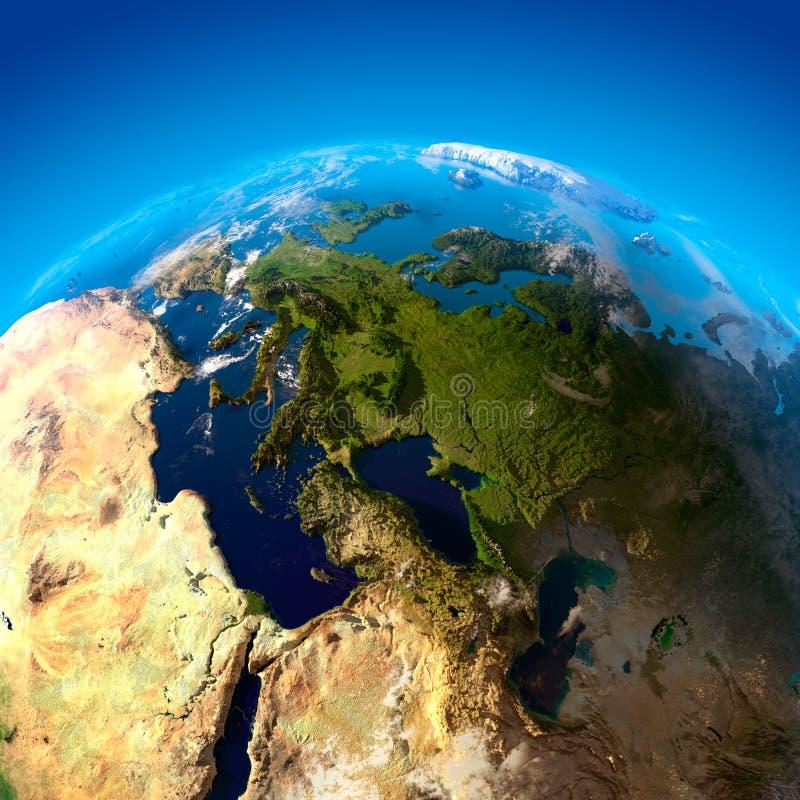 欧洲高度视图 库存例证