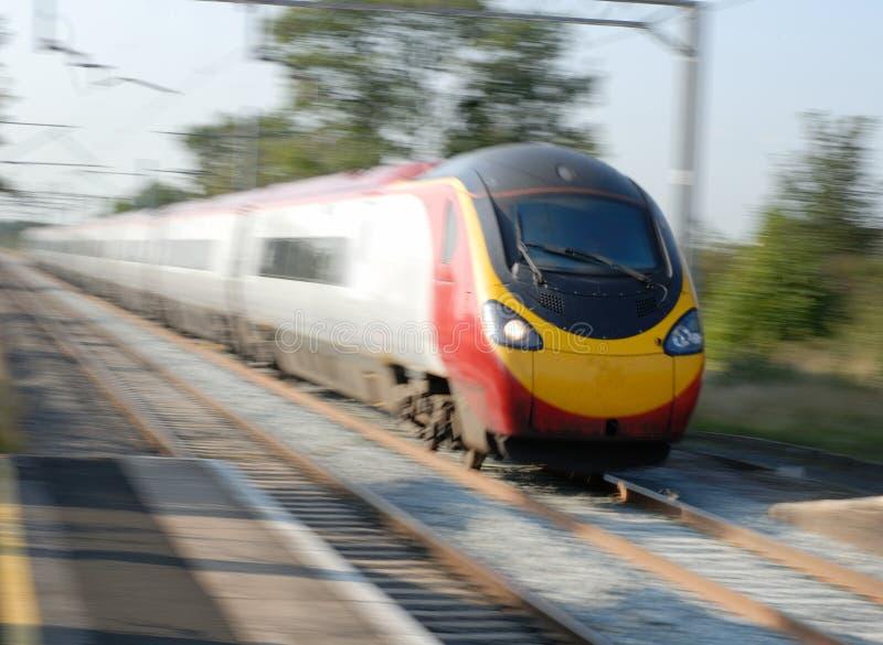 欧洲高速火车 免版税库存图片