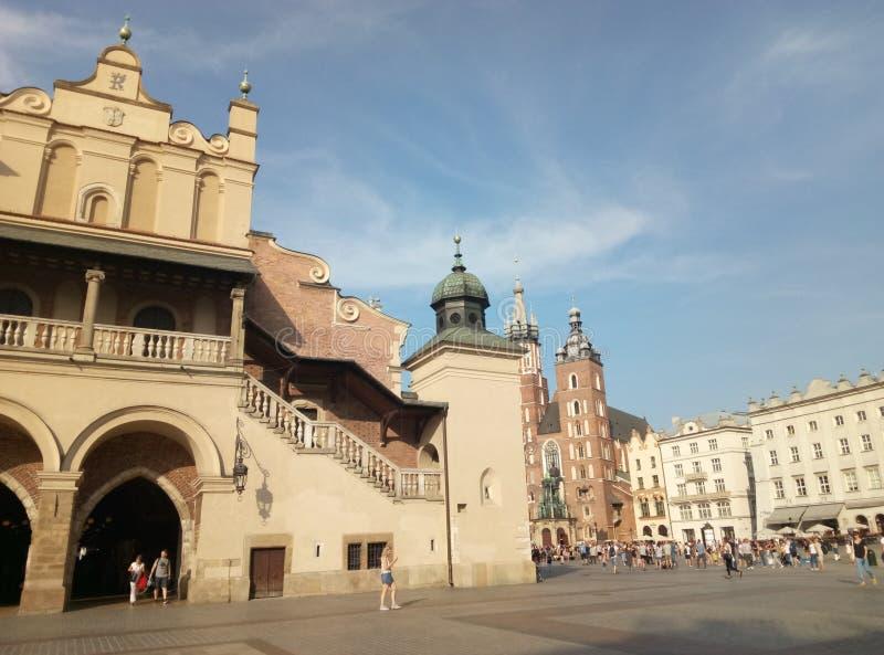 欧洲,建筑学,城市,老大厦,克拉科夫 免版税库存图片