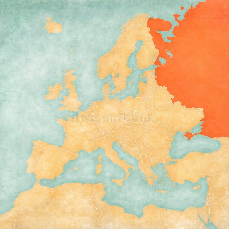 欧洲-俄罗斯的地图 皇族释放例证