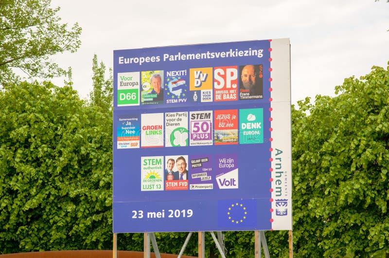 欧洲electtions的政治运动海报 免版税库存图片