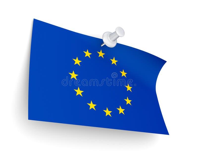 欧盟下垂。 向量例证