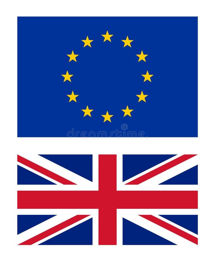 欧盟和英国旗子传染媒介例证 向量例证