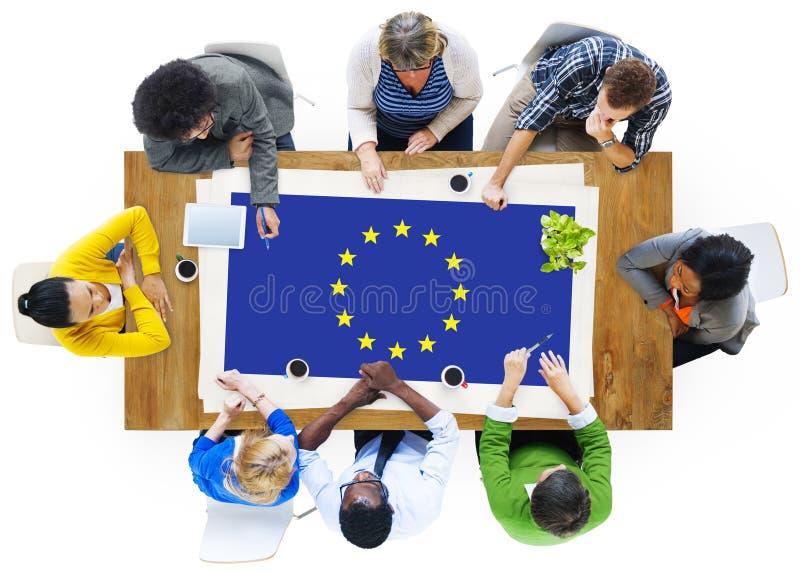 欧盟国旗国籍文化自由概念 免版税图库摄影