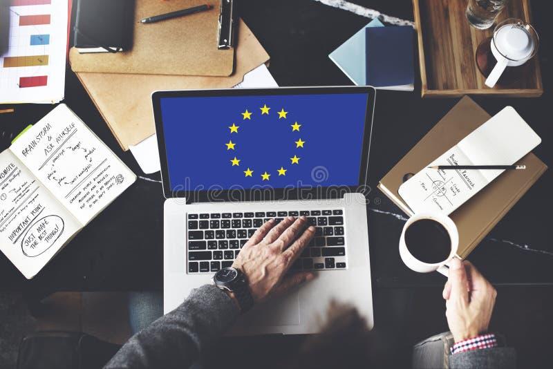 欧盟国旗国籍文化自由概念 免版税库存照片