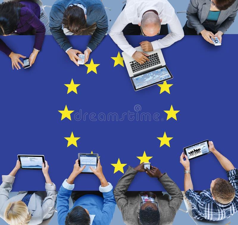 欧盟国旗国籍文化自由概念 免版税库存图片