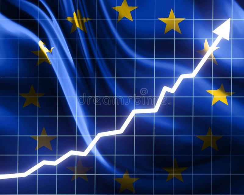 欧盟增长 皇族释放例证