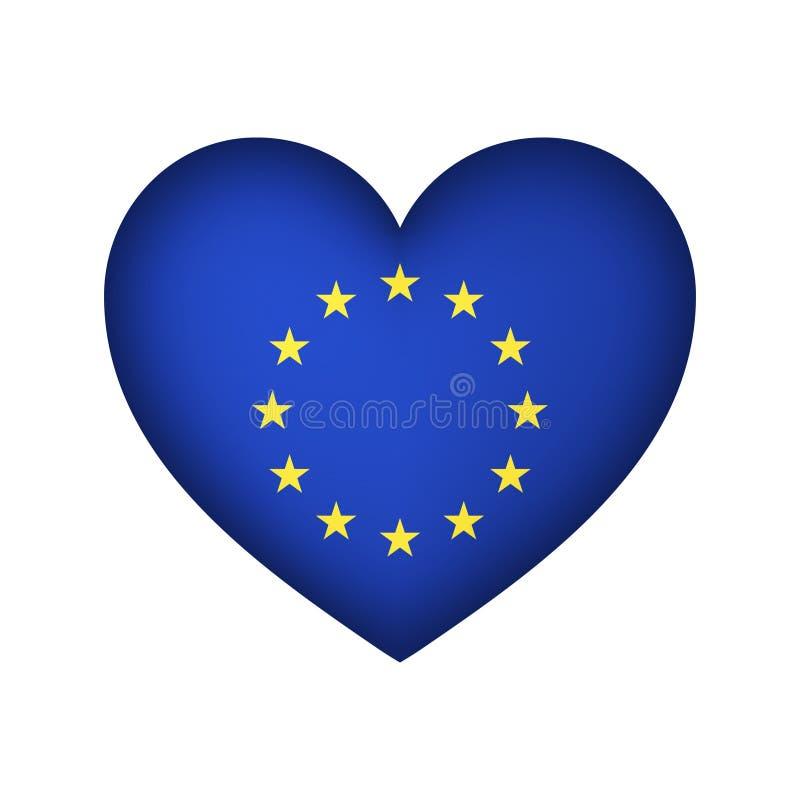 欧盟心脏设计传染媒介例证 库存例证