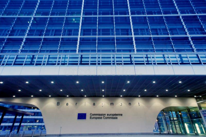 欧盟执委会在布鲁塞尔 免版税库存照片