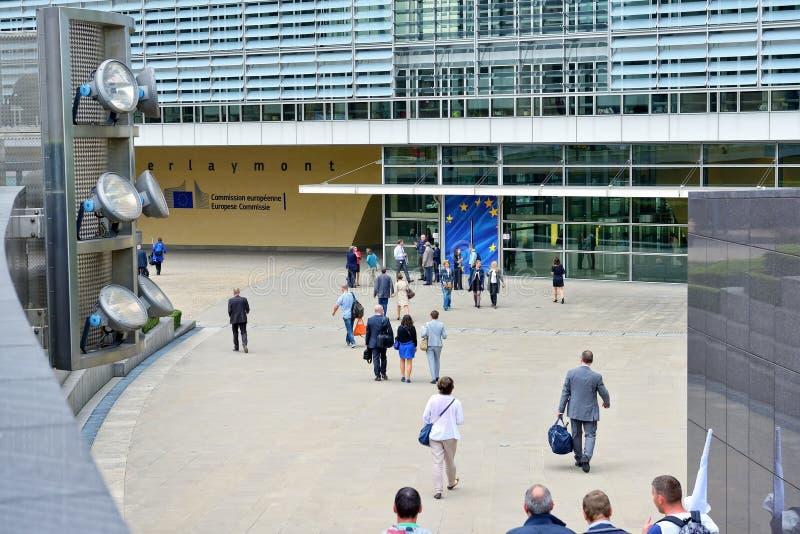 欧盟执委会总部在布鲁塞尔 库存照片