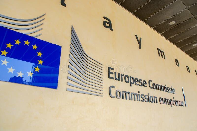 欧盟执委会总部(Berlaymont大厦)在布鲁塞尔 图库摄影