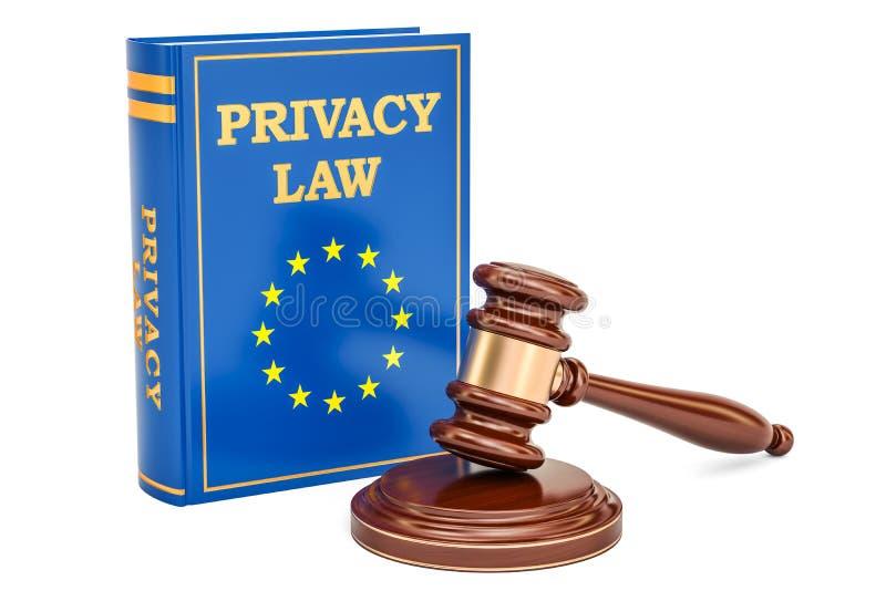 欧盟数据保护改革统治概念, 3D翻译 库存例证