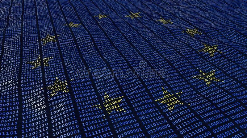 欧盟数据保护GDPR位和字节 库存例证