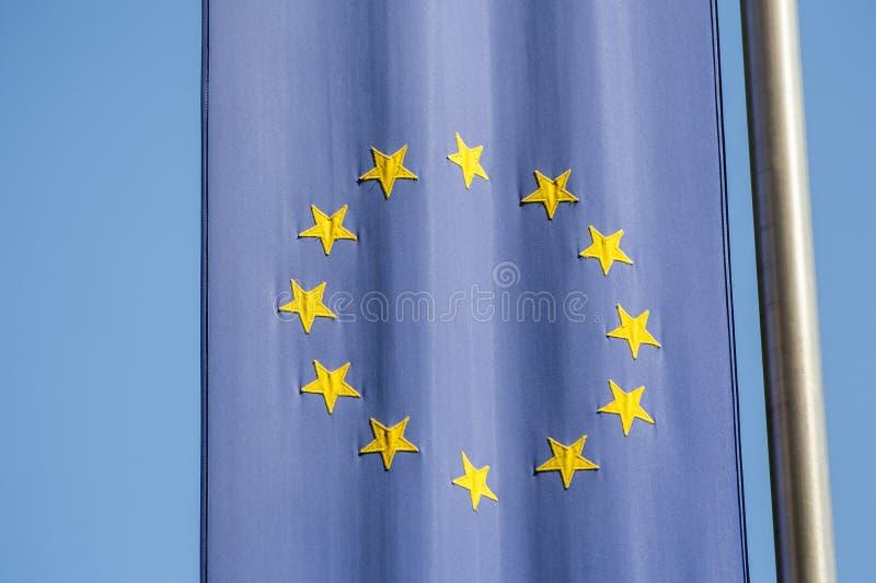 欧盟旗子。 库存图片