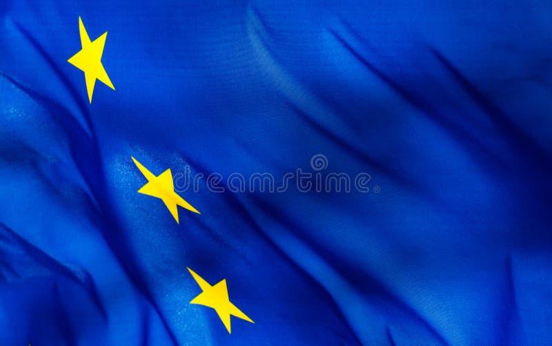 一面欧盟旗子的片段 图库摄影
