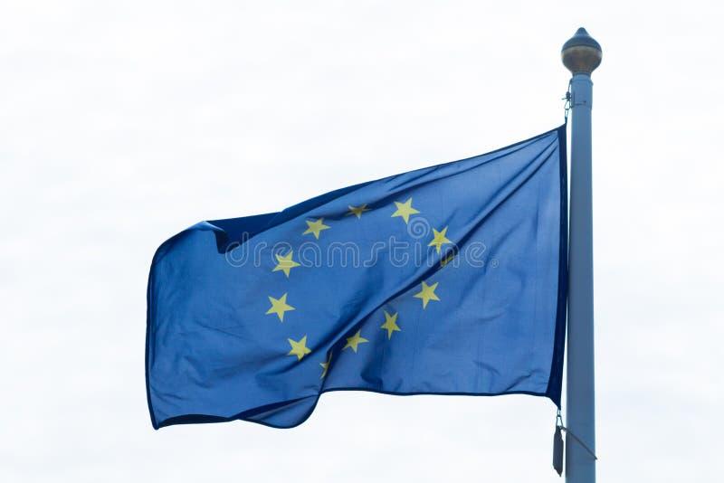 欧盟旗帜 免版税图库摄影