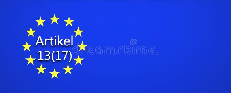 欧盟法律决定-例证 库存例证
