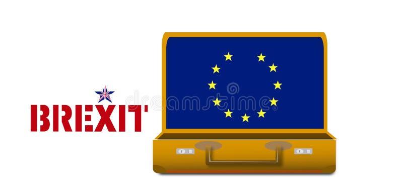 从欧盟的Brexit英国撤退 免版税库存照片