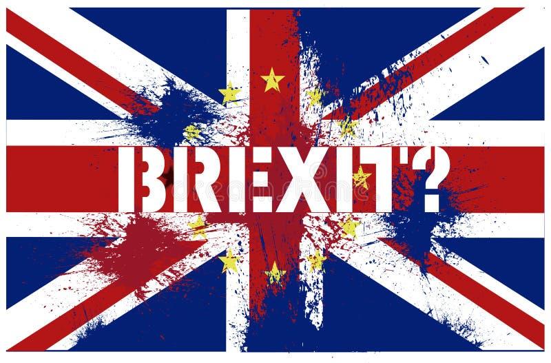 从欧盟的Brexit英国撤退 库存照片
