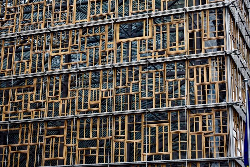 欧罗巴大厦窗口 免版税库存照片