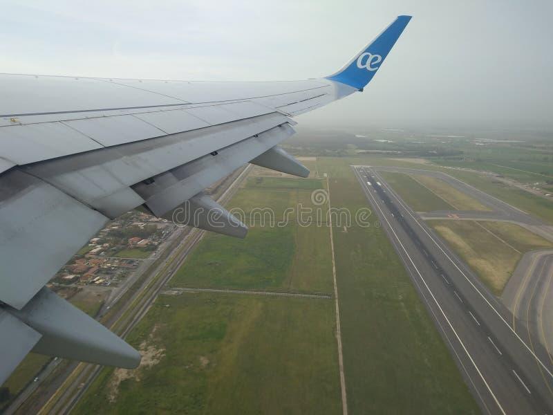 欧罗巴航空离开 库存图片