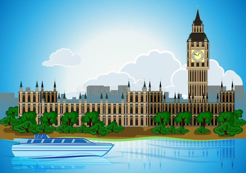 欧罗巴地平线城市首都伦敦 皇族释放例证