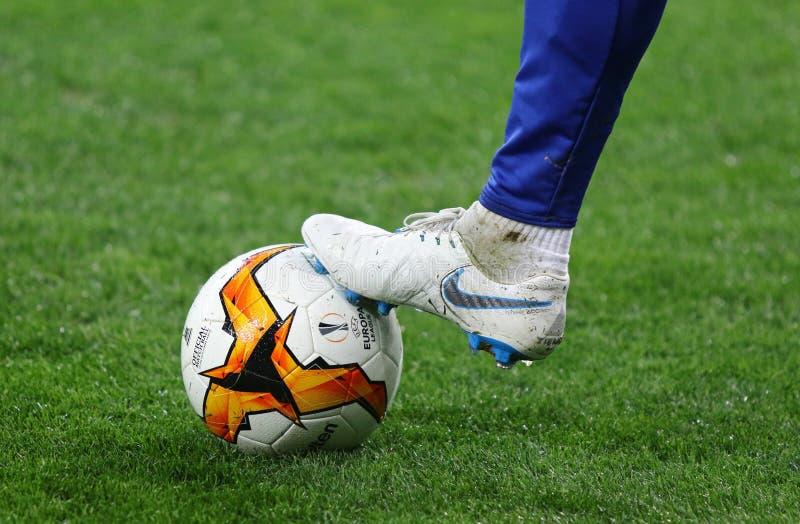 欧足联欧洲联赛:发电机基辅v切尔西 库存照片