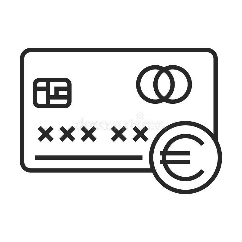 欧洲信用卡象 库存例证