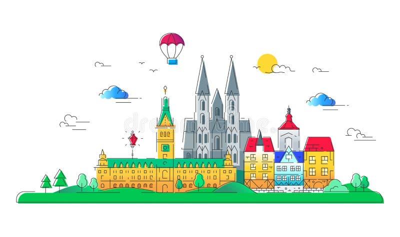欧洲国家-传染媒介线旅行例证 皇族释放例证