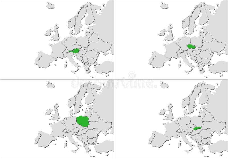欧洲国家 库存例证