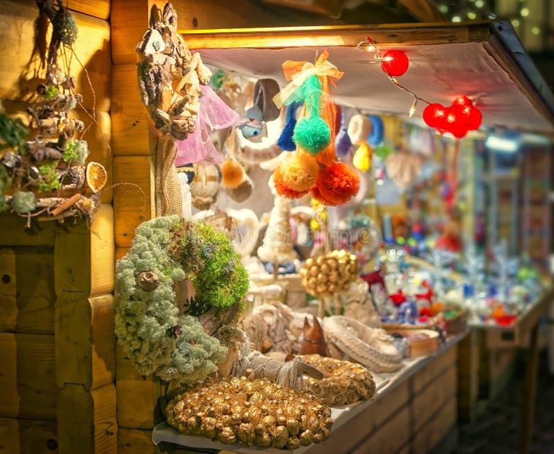 欧洲圣诞节市场stall2 免版税库存照片