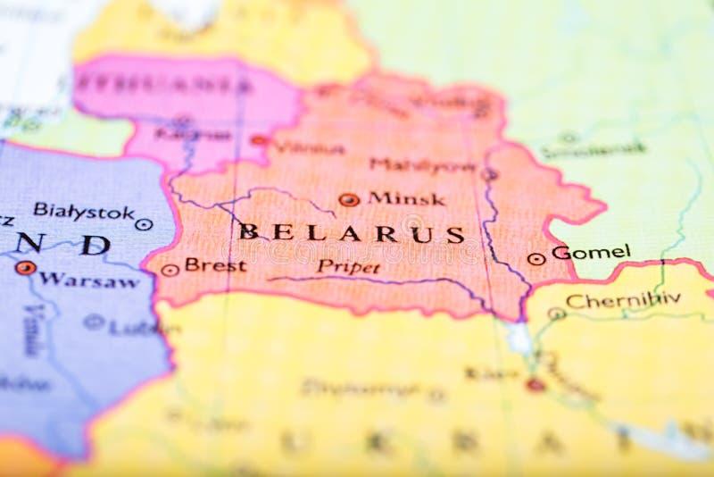 欧洲地图在白俄罗斯围绕 免版税图库摄影