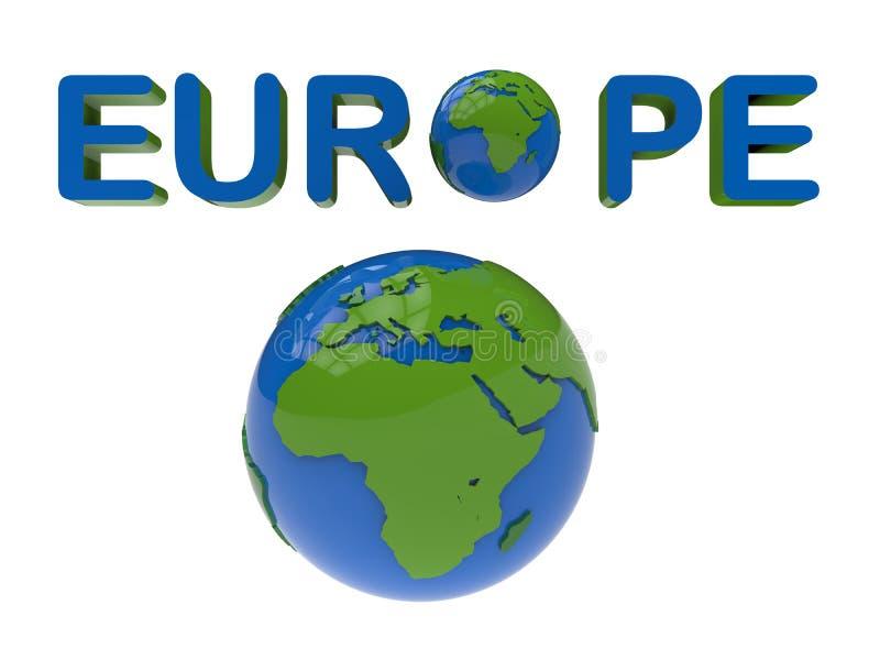 欧洲地球概念 库存例证
