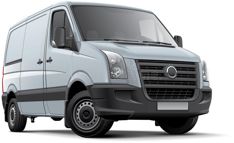 欧洲轻型货车 向量例证