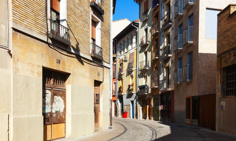 欧洲城市街道。潘普洛纳 免版税库存图片