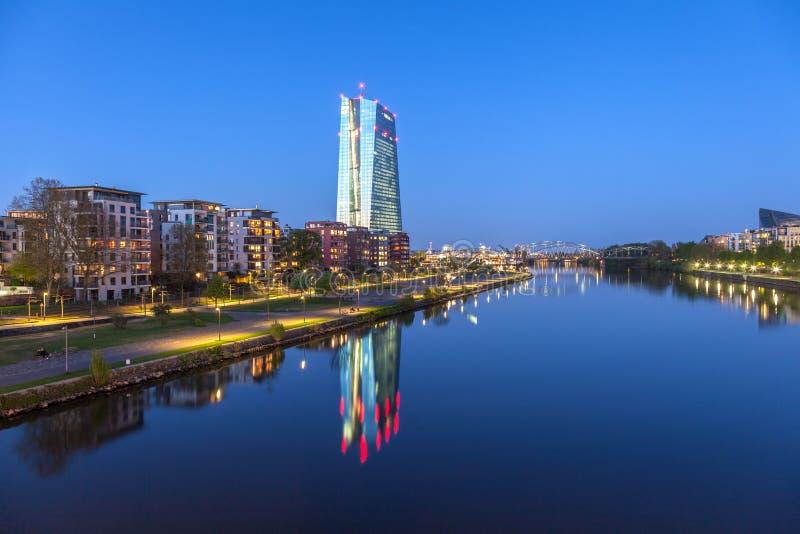 欧洲央行(ECB)大厦在法兰克福 库存图片