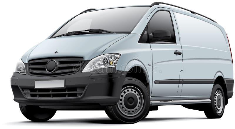 欧洲小型货车 皇族释放例证