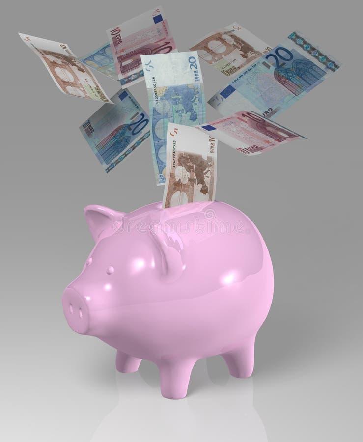 欧洲贪心钞票3D 向量例证