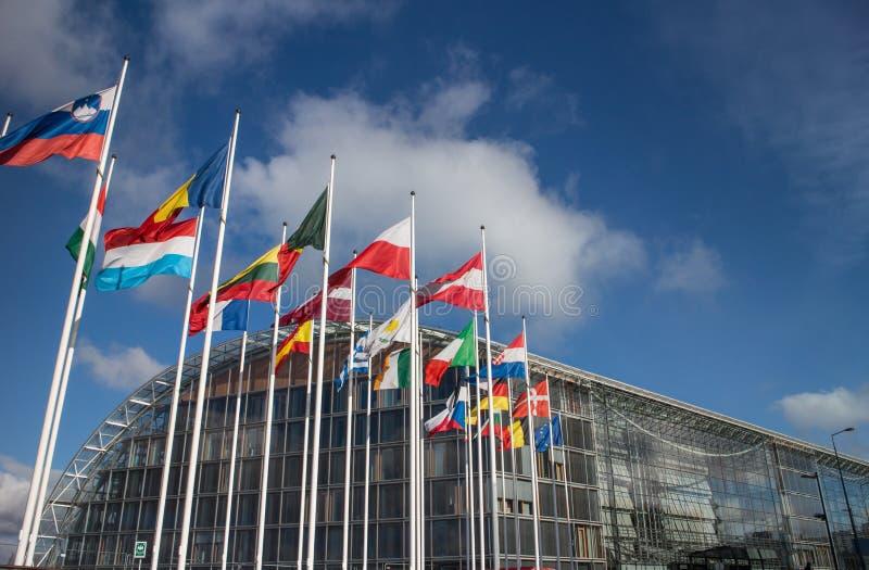 欧洲投资银行(邶) 免版税图库摄影