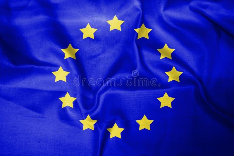 欧洲旗子背景蓝色黄色 图库摄影