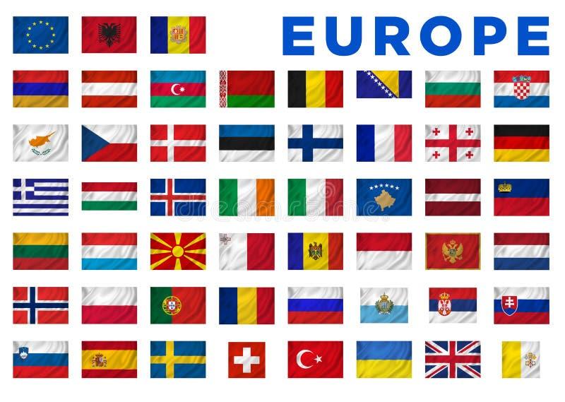 欧洲旗子 库存例证