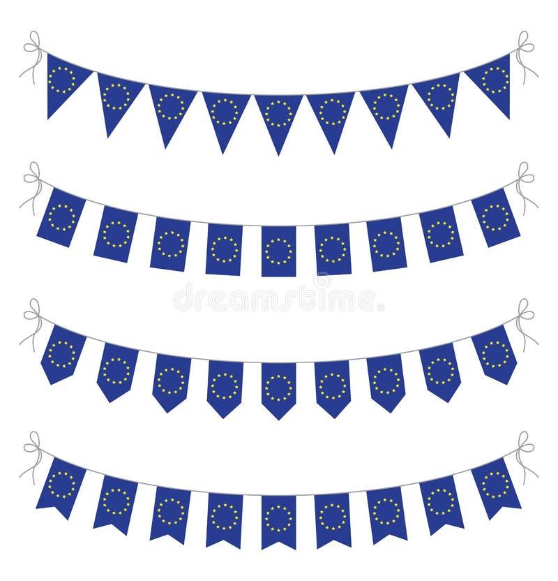 欧洲旗布 库存例证
