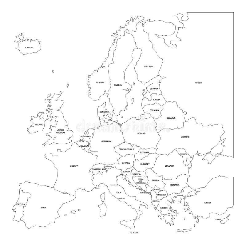 欧洲映射分级显示 皇族释放例证