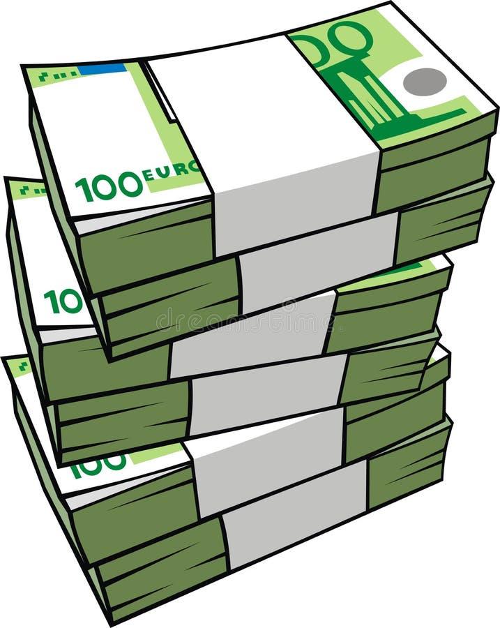 欧洲查出的货币 皇族释放例证
