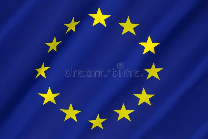 欧洲-欧盟旗子  免版税库存图片