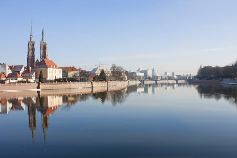 欧洲 波兰 弗罗茨瓦夫风景 库存图片