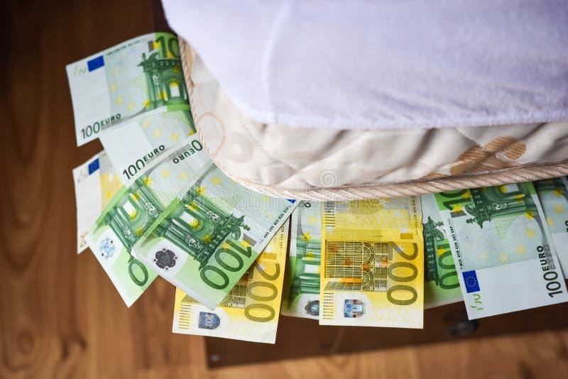欧洲现金金钱,个人储款 免版税库存照片