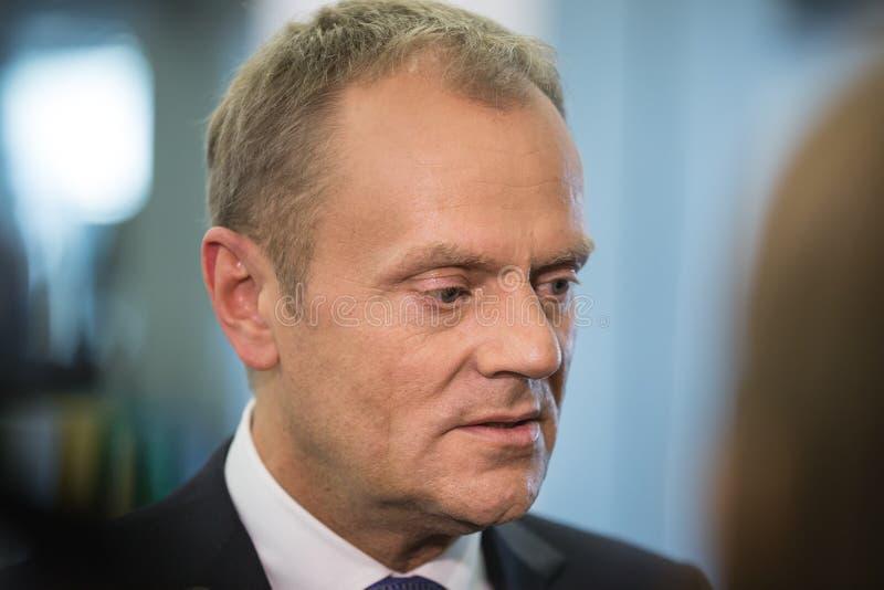 欧洲理事会唐纳德・图斯克的总统 库存照片